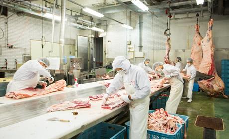 衛生管理と品質管理を両立した食肉加工施設