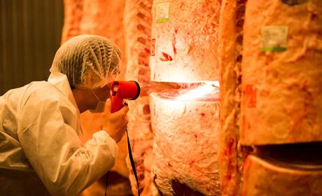 コンピュータによる確実な食肉加工・流通管理