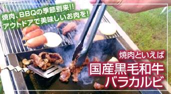 焼肉、BBQの季節到来!!アウトドアで美味しいお肉を!焼肉といえば国産黒毛和牛バラカルビ